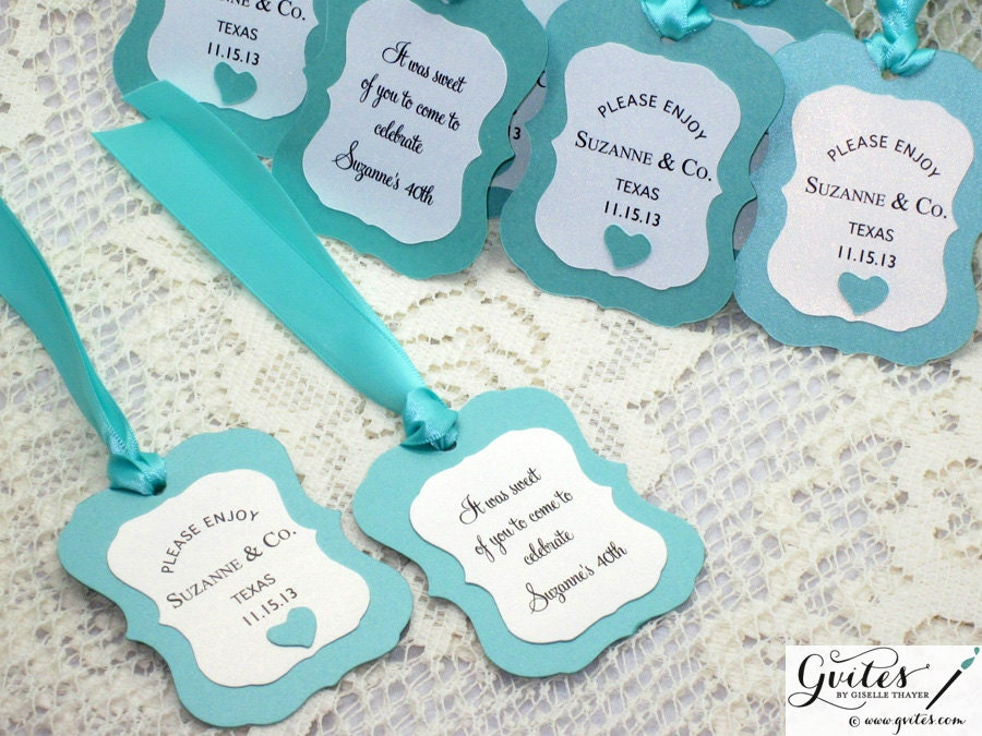 Gift Favor Tags Double Sided Printed Wedding Tags By Gvites