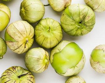 Tomatillos, Food Photography, Vegetable Fruit Photography, Restaurant Decor, Home Decor Kitchen Decor Dining Room Decor Large Wall Art Green