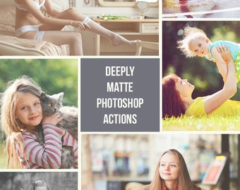 Matte Photoshop Actions - 20 Matte Actions - Adobe Photoshop Actions - Sale