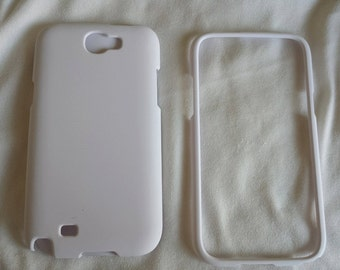 DIY samsung note2 phone case for white