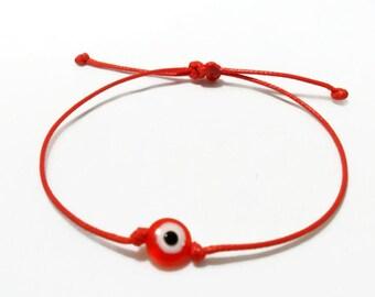 Red Evil Eye Bracelet, String bracelet, Yoga Bracelet, Evil Eye friendship bracelet, red evil eye, pink eye, blue evil eye, purple evil eye