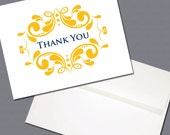 Floral Burst Thank You Card