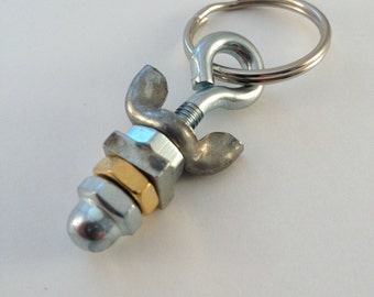 Nuts and Bolts Keychain