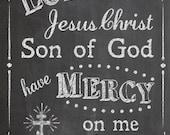 Jesus Prayer: Orthodox Prayer of the Heart Chalkboard Printable