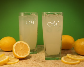 The Perfect Couple Personalized Drinking Glasses with Font Selection (Set of Two - 16 oz. Highball Glasses)