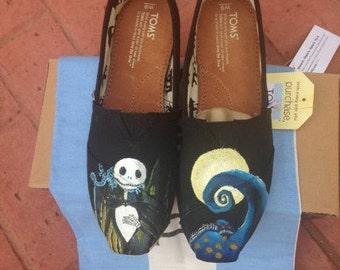 Nightmare Before Christmas Hand Painted Toms Shoes