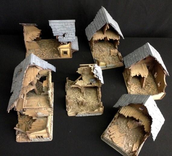 Ruined Medieval Buildings Fantasy Terrain Scenery In 28mm