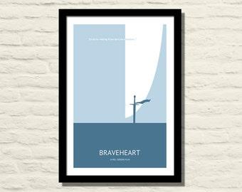 Braveheart Movie Poster, Art Print, 11 X 17, Minimalist Poster, Home Decor