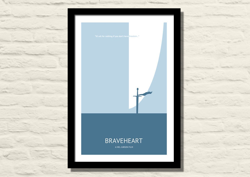 Braveheart Movie Poster Art Print 11 X 17 Minimalist