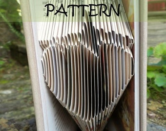 Book folding Pattern: STRAWBERRY design (including instructions) – DIY gift – Papercraft Tutorial