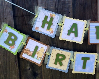 Classic Winnie the Pooh birthday banner DIY do it yourself