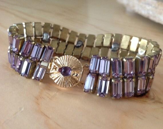 Swarovski Crystal bracelet in a gorgeous lavender.
