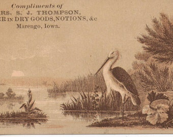 Dry Goods & Notions Victorian Trade Card  Antique Advertising 1800s