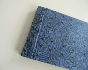 Stab Bound Blue & Black Modern Wave Journal // Notebook // Sketchbook // Scrapbook