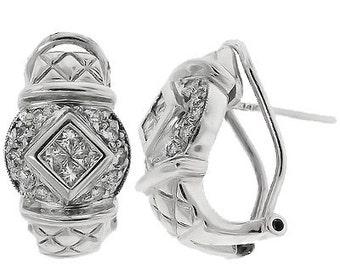 Beautiful Appraised DIAMOND 14k White GOLD Earrings