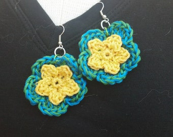 Crochet Earrings - Fun Color Pop