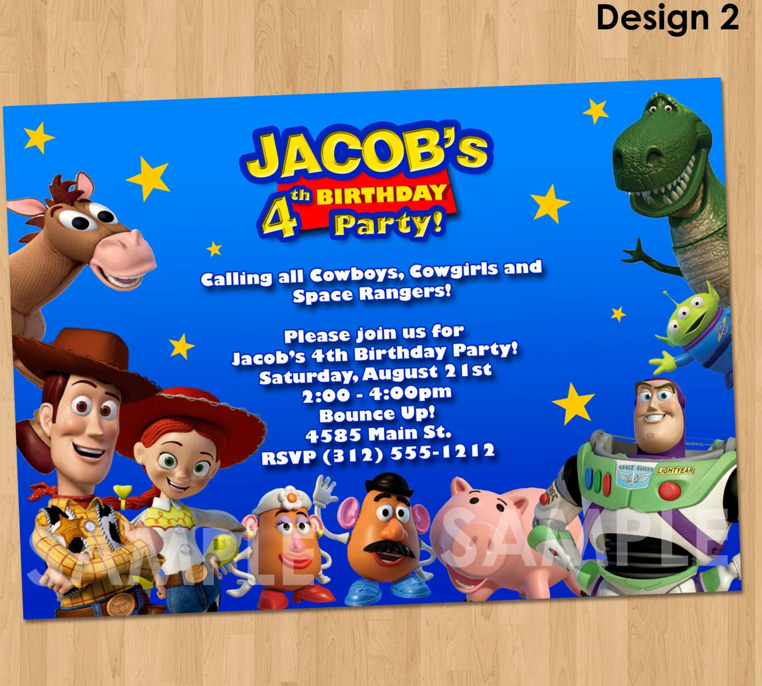Toy story invitation toy story invite custom personalized for Toy story invites templates free