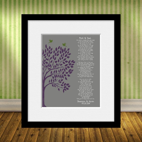Wedding Gift Thank You Poem : Thank You Poem, Wedding Day Parents Poem, Brides Parent Gift ...