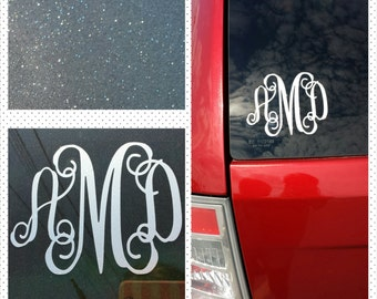 Personalized Sparkle Monogram Decal