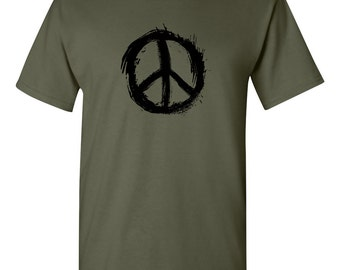 Peace T Shirt with arty CND logo