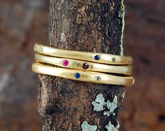 Stackable Ring, Rings, Birthstone Ring, Gemstone Stacking Ring, Gemstone Ring, Gold Ring, Organic Ring, Simple Ring, Thin Ring,Designer Ring