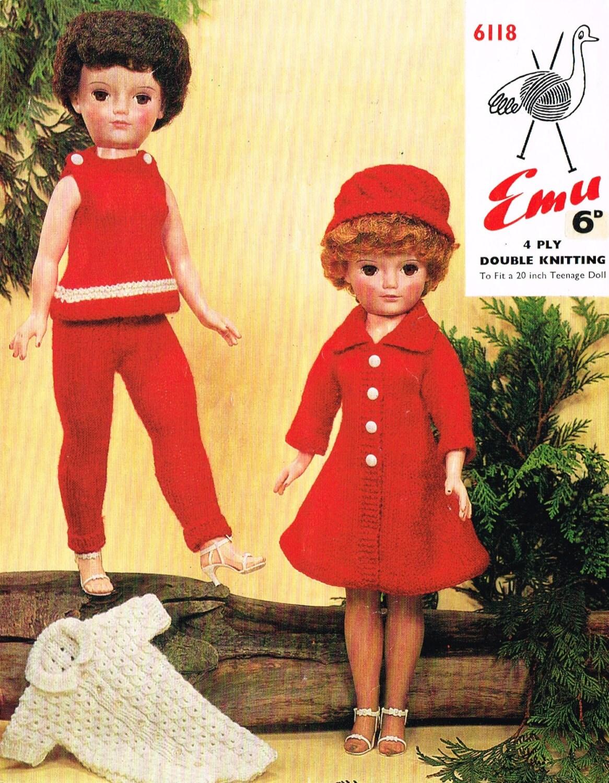 Dolls knitting pattern. 20 doll. Design-a-Friend