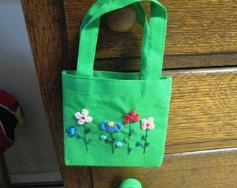 Small Embroidered Gift Bags or Child's Tote