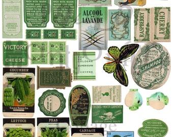 Green Stuff Number 1 Digital Download Collage Sheet