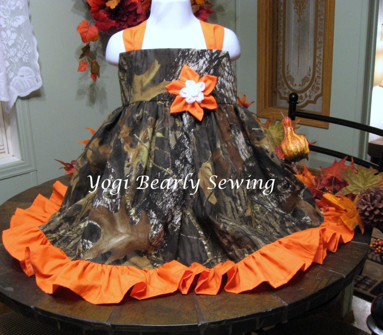 Camo Outdoor Wedding Ideas: Girls Camo Dress Girls Camo Wedding Dress. Flower Girl Camo