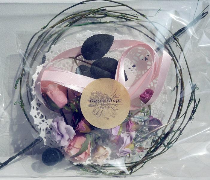 DIY Kit Peach Pink Orenge Flower Crown Kit Wedding