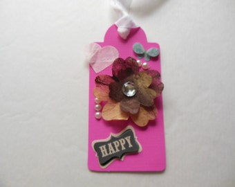 Birthday Gift Tag, Best Friend Gift, Thinking of You GIft Tag, Happy Gift Tag, Butterfly Gift Tag, Fun GIft Tag