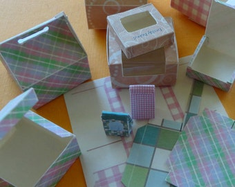 Tutorial Digital Download Bakery Boxes Amp Bags Dollhouse