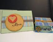 Handmade Love Card with bonus Friends gift tag