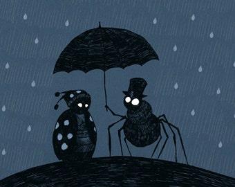 Rain Bugs Greeting Card
