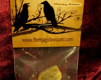 Honey AMBER Resin/Perfume 5 gm , 10 gm, 30 gm ~ Comes with a double sided Candle & Resin Magick card~ SALE Low S/H