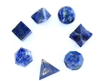 Lapis Lazule Sacred Geometry Set 7 Pcs