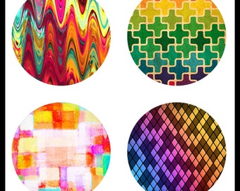 Digital Download Sheets - 30mm Digital Downloads - Abstract Designs - 30mm Cabochons - Cabochon Designs - Buttons - DDP362