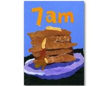 Stack of Pancakes -  Childhood Memories - Sunday Morning - 1950's Diner - Route 66 Camp Art - Breakfast Restaurant Decor  (CMEM2013048)