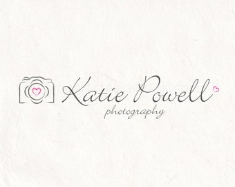 Photography logo design - photography Watermark logo camera logo - Instant download DIY logo psd logo