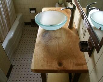 Made to order custom wood vanity top