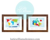 Map Poster - My World OR My Country