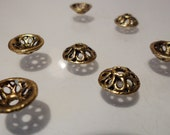 Antique Golden Metal Alloy Bead Caps Findings Jewelry Supplies, 50pcs F1941
