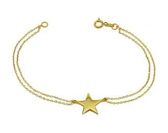 Star 14k Solid Gold Bracelet Best Price Perfect Gift