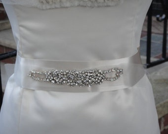 Beautiful Crystal Bridal Belt, Sash.