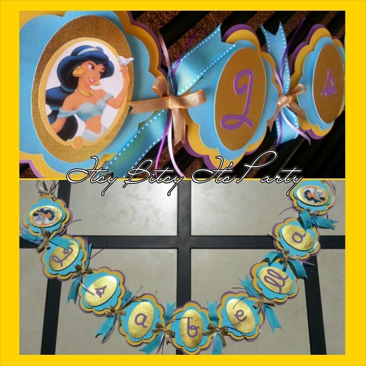 princess jasmine banner aladdin banner by itsybitsyitsparty
