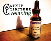 Catnip Tincture-Tinctured from fresh catnip leaves and buds-relaxing-sleep-insomnia-anxiety-stress-1 ounce glass bottle with glass dropper