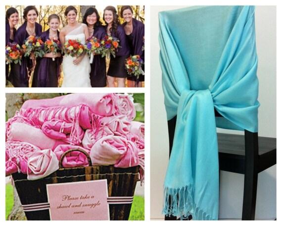 Set of 5 pashmina , pashmina scarf, pashmina shawls, wedding shawls, pashmina wrap, bridesmaid shawls, wedding favors, chair covers