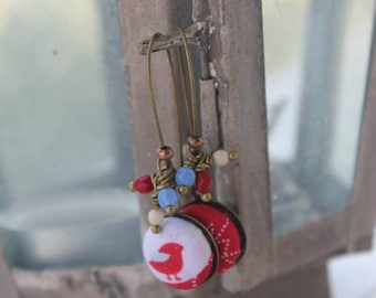 RED BIRD earring