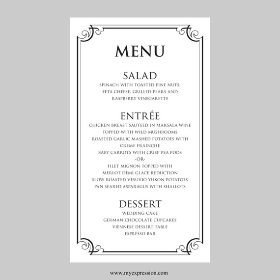 Indian Restaurant Menu Layout