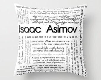 Isaac Asimov Quotes, Home Decor Pillow Cover 18x18